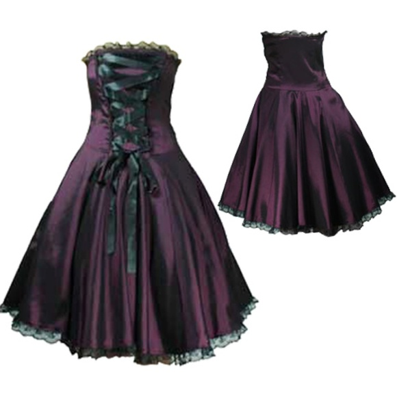 Cs Dresses Gothic Corset Ribbon Plus Size Strapless Dress Poshmark
